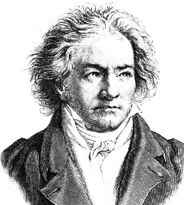 Beethoven, : Beethoven Coloring Pages