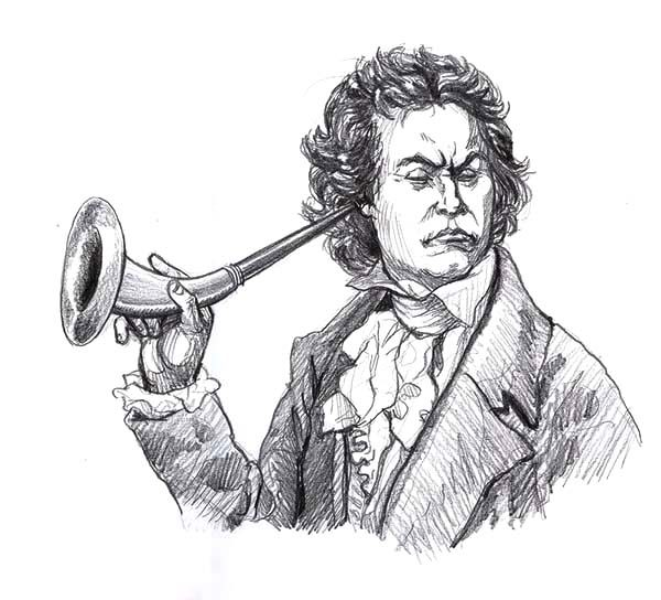 Beethoven, : Beethoven Deaf Coloring Pages
