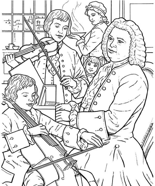 Beethoven, Beethoven Rehersal for Tonight Show Coloring Pages: Beethoven Rehersal For Tonight Show Coloring PagesFull Size Image