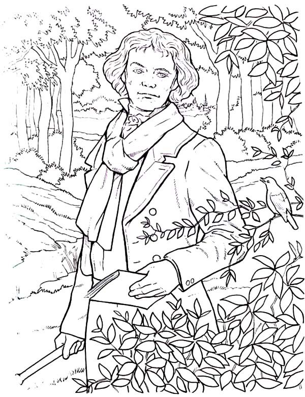 Beethoven, : Beethoven the Great Composers Coloring Pages