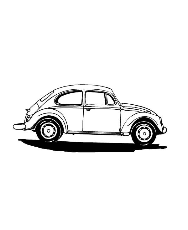 Beetle Car, : Beetle Car Cabriolet Coloring Pages