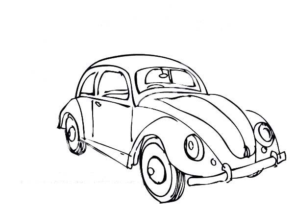 Beetle Car, : Beetle Car Coloring Pages
