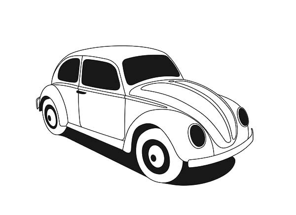 Bug Car Coloring Pages : Free coloring pages of vw bug
