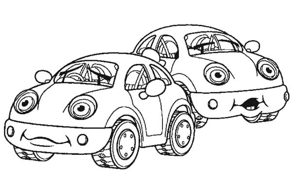 Beetle Car, : Beetle Car Couple Coloring Pages