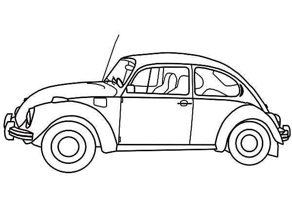 Beetle Car, : Beetle Car Picture Coloring Pages