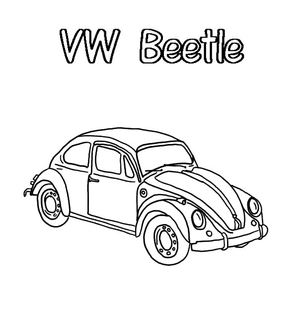Bug Car Coloring Pages : Free coloring pages of volkswagen beetle