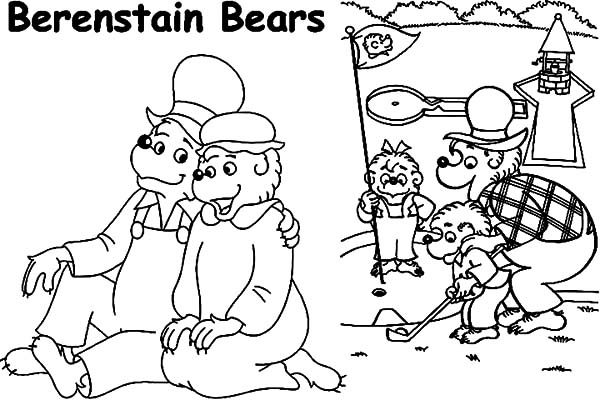 Berenstain Bear, : Berenstain Bear Family Activity Coloring Pages
