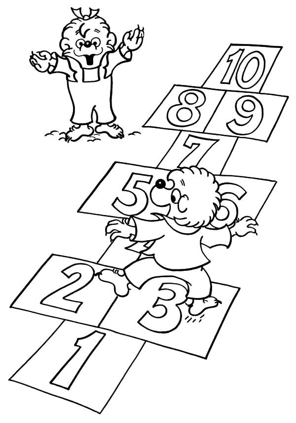Berenstain Bear, : Berenstain Bear Learn to Count Coloring Pages