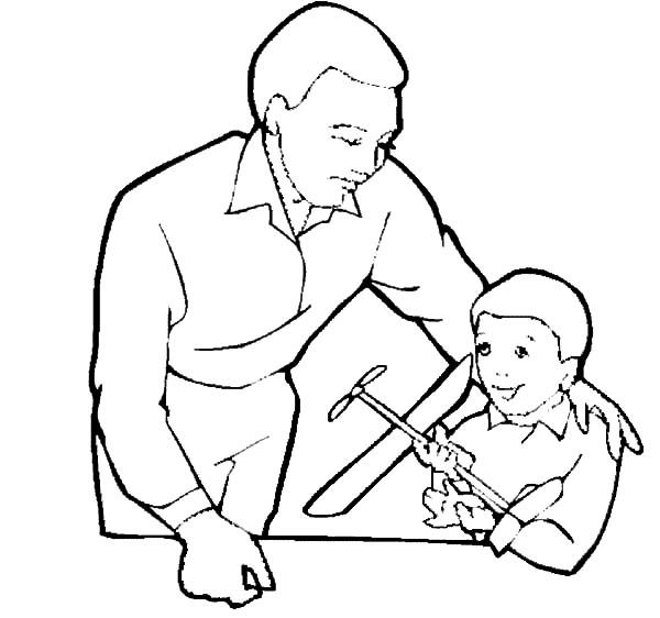Best Dad, : Best Dad Coloring Pages