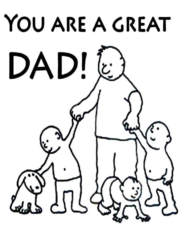 Best Dad, : Best Dad You are a Great Dad Coloring Pages