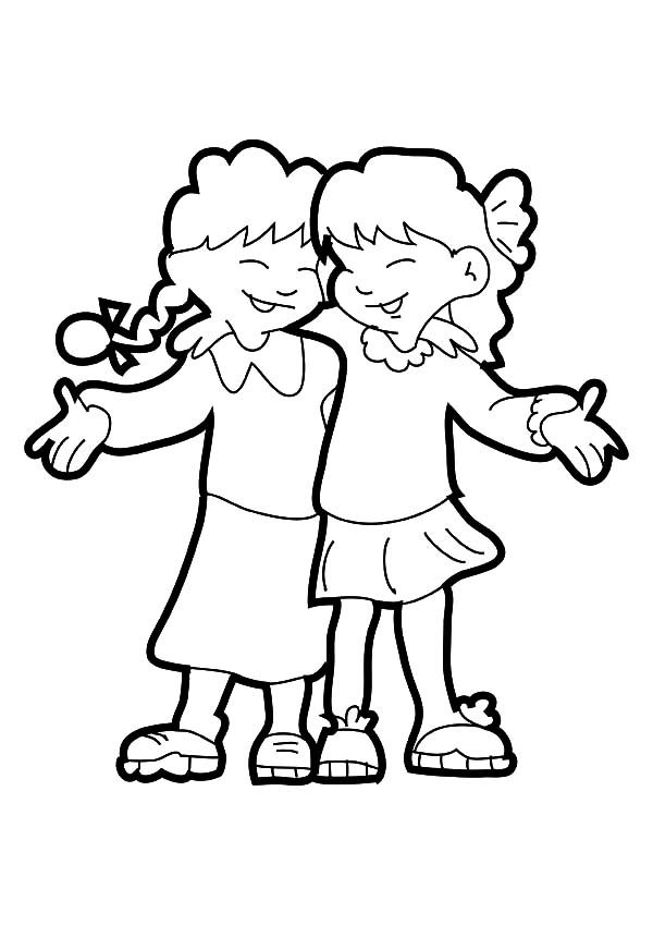 Best Friends, : Best Friends Best Time Laughing with You Coloring Pages