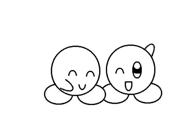 Best Friends, : Best Friends Emoji Coloring Pages