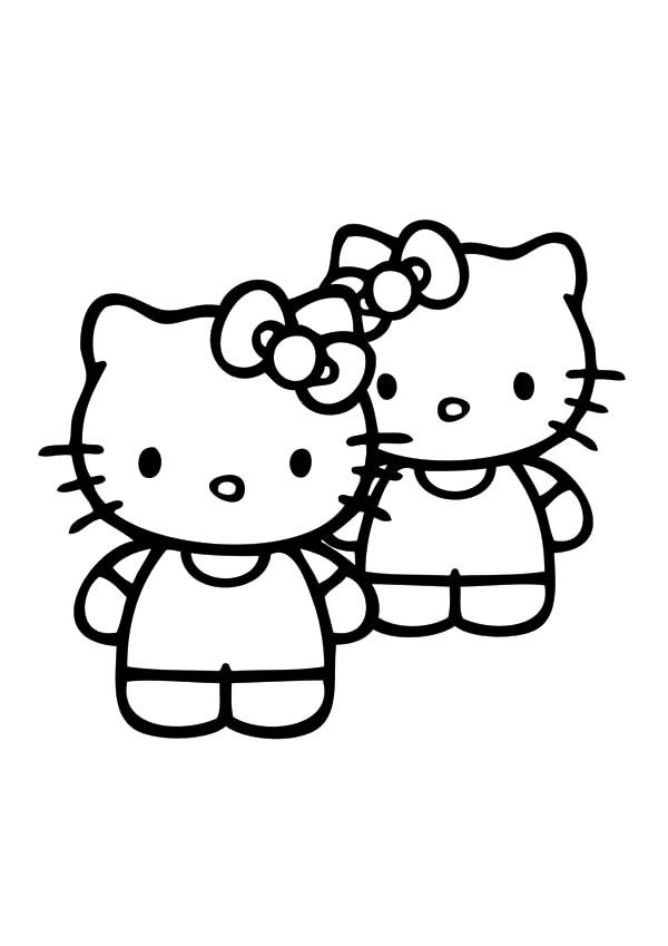 Best Friends Hello Kitty Coloring Pages