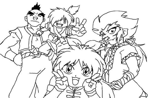 Beyblade, : Beyblade Coloring Pages