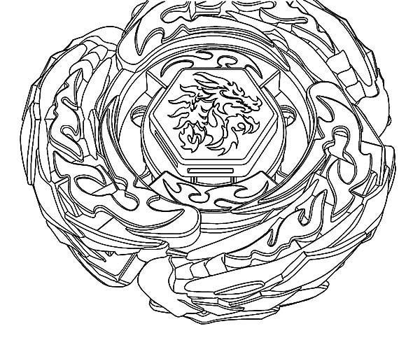 Beyblade, : Beyblade Drago Coloring Pages