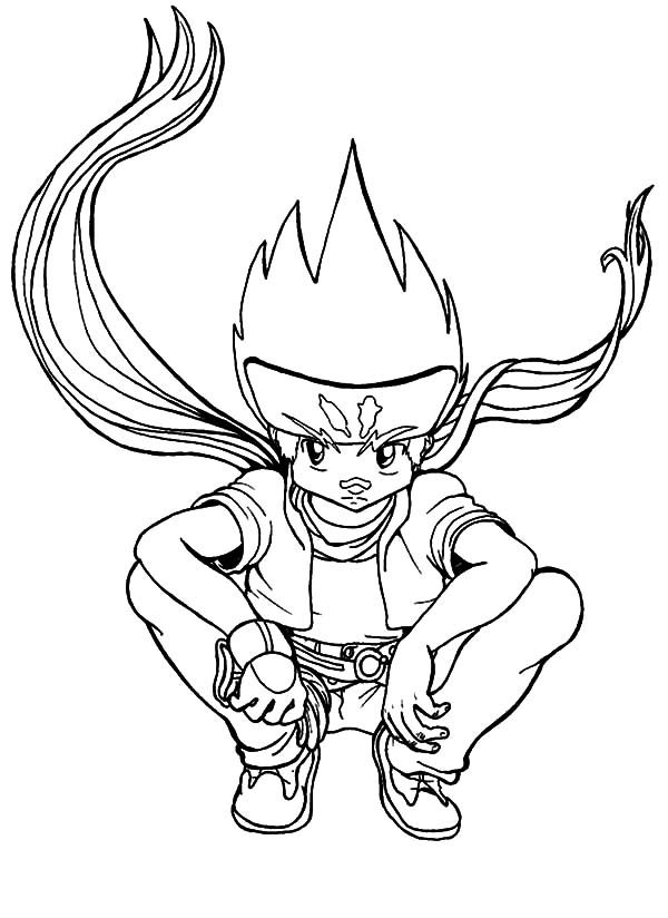 beyblade coloring pages gingka - photo#19