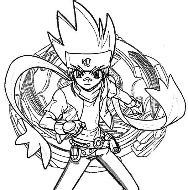 Beyblade, : Beyblade Ginga Ginka Fight Coloring Pages