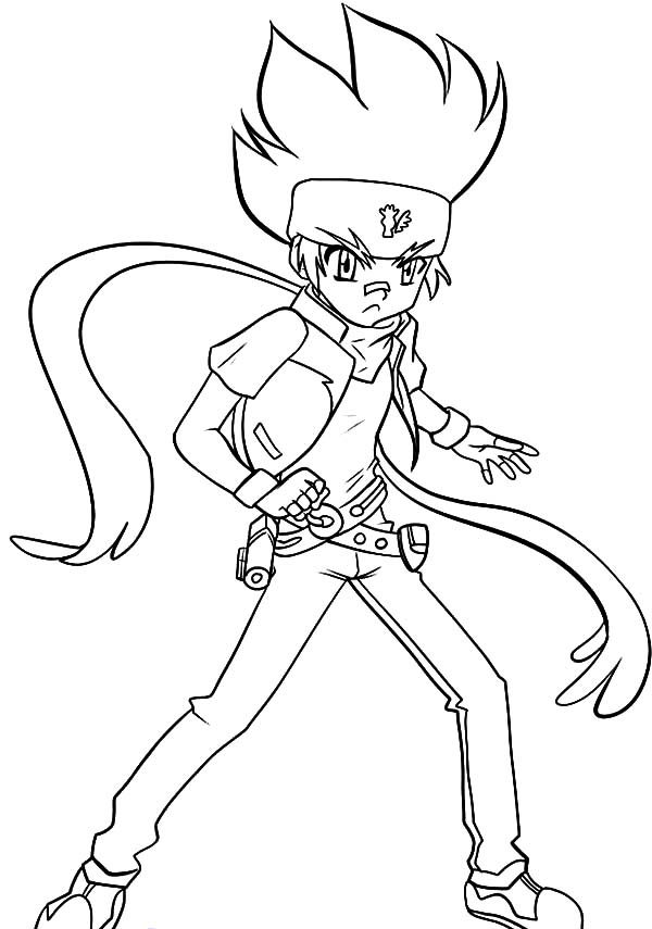 beyblade coloring pages gingka - photo#5