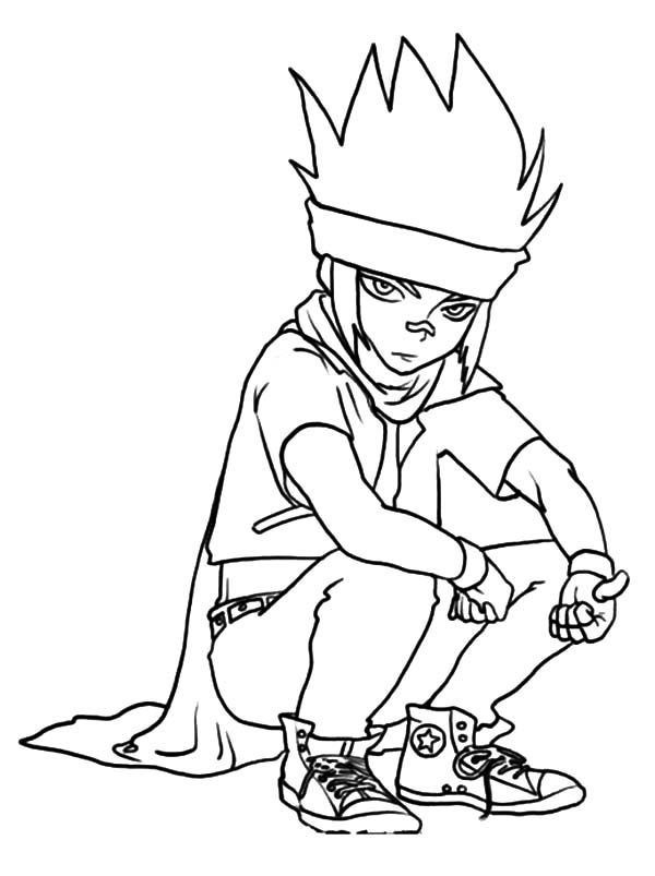 Beyblade, : Beyblade Ginga Ginka is Boring Coloring Pages