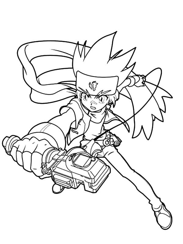 Beyblade, : Beyblade Gingka Coloring Pages