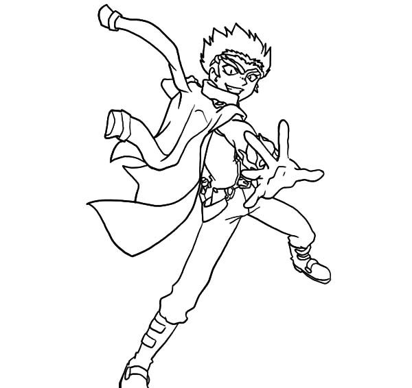 Beyblade, : Beyblade Ryuga Coloring Pages