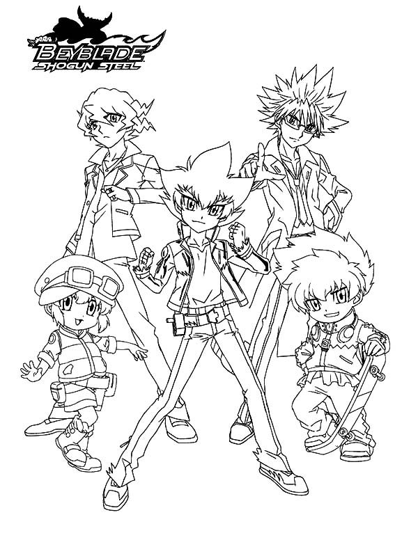 Beyblade, : Beyss Awesome Group Beyblade Coloring Pages 2