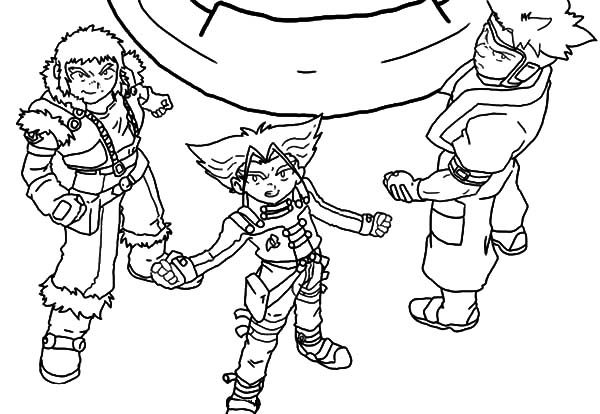 Beyblade, : Beyss Beyblade Winning Team Coloring Pages