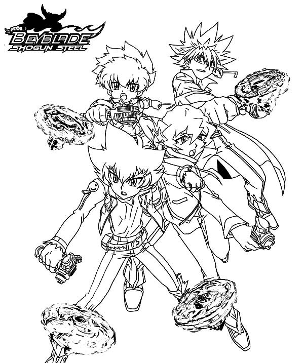 beyblade beyss group beyblade coloring pages 2 - Beyblade Coloring Pages