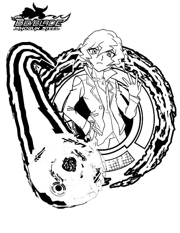 Beyss Shinobu Beyblade Coloring Pages Beyss Shinobu Beyblade
