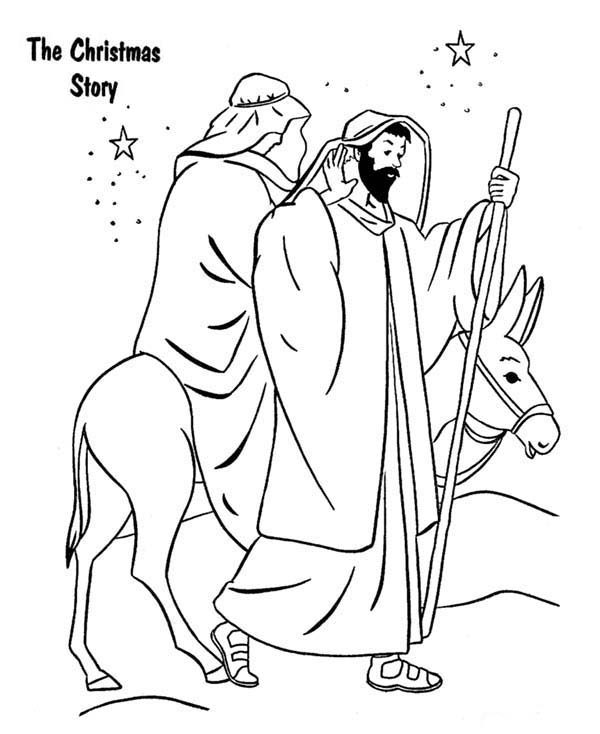 Bible Christmas Story, : Bible Christmas Story Coloring Pages