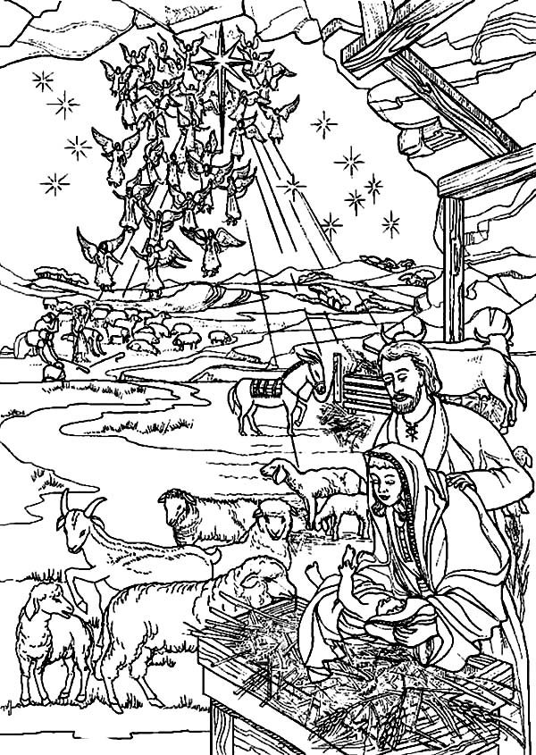 Bible Christmas Story, : Bible Christmas Story Holy Spirit Come Down to Earth Coloring Pages