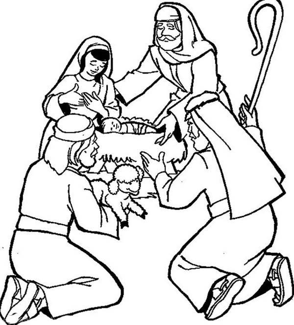 Bible Christmas Story, : Bible Christmas Story Jesus Nativity Coloring Pages