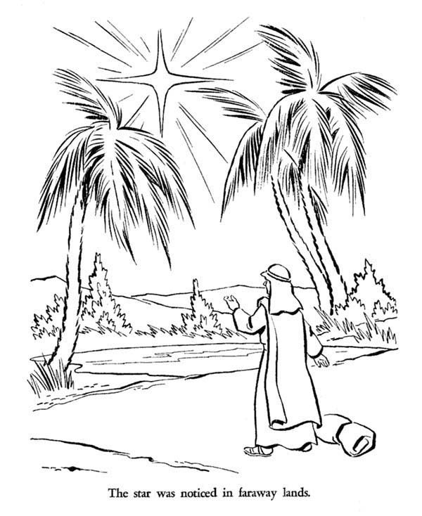 Bible Christmas Story, : Bible Christmas Story Star of Bethlehem Coloring Pages
