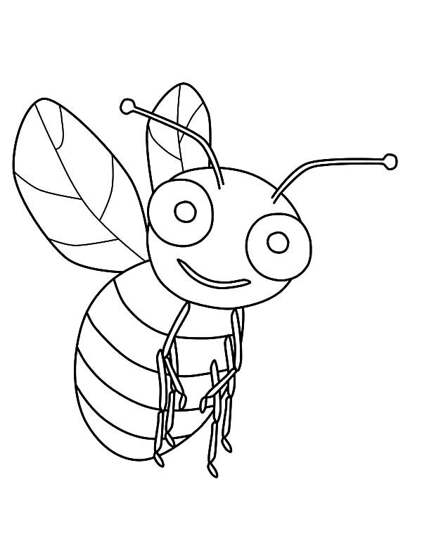 Big Eyed Bumble Bee Coloring Pages