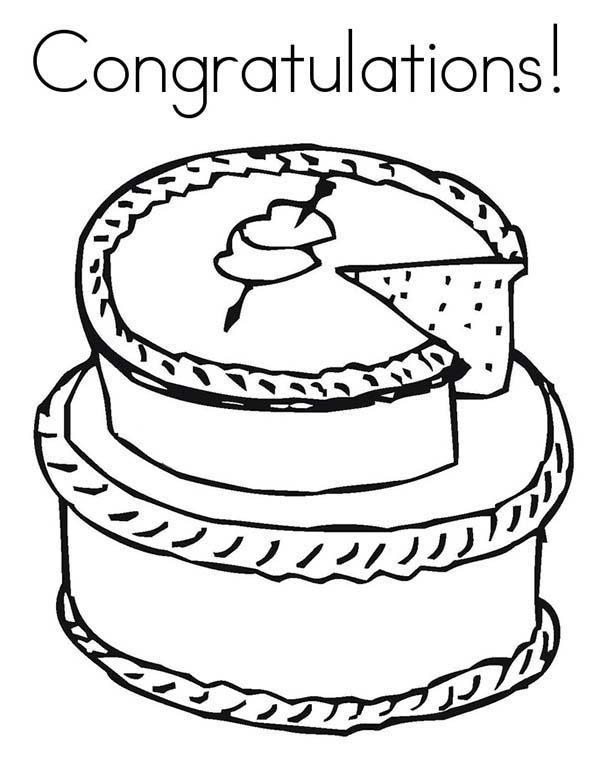 Cakes, : Big Valentine Cake with Heart for Someone Special Coloring Pages