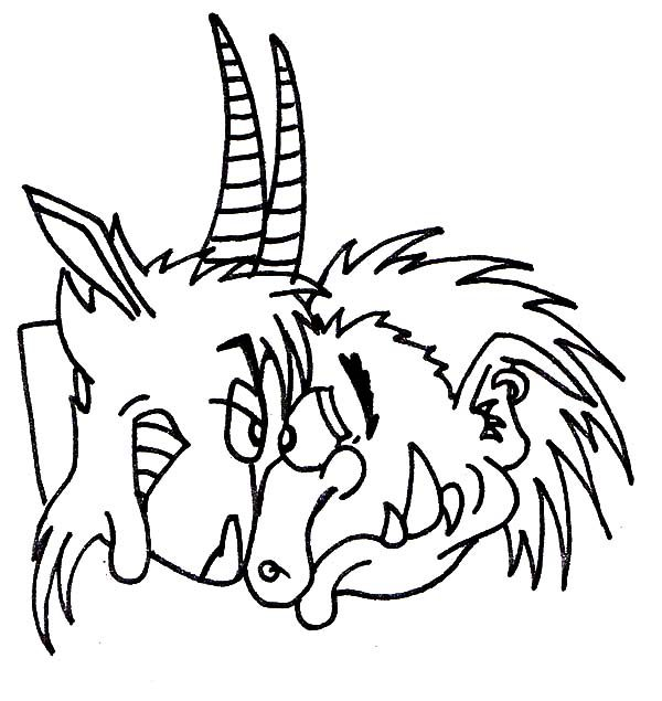 Billy the Goat, : Biggest Billy the Goat Threat the Troll Coloring Pages