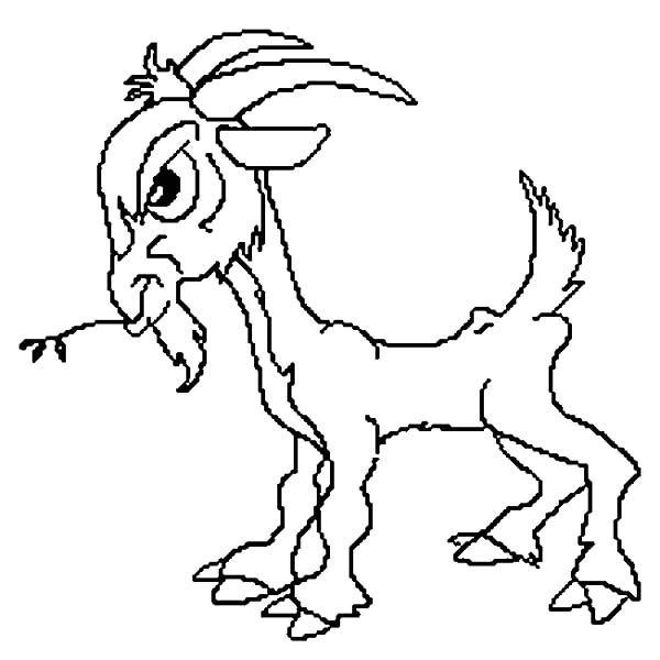Billy the Goat, : Billy the Goat Angry at the Troll Coloring Pages