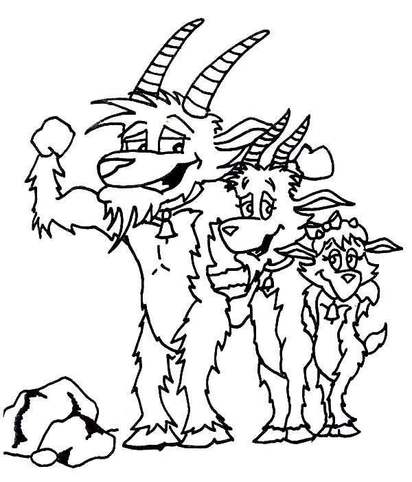 Billy the Goat, : Billy the Goat Assembled Coloring Pages
