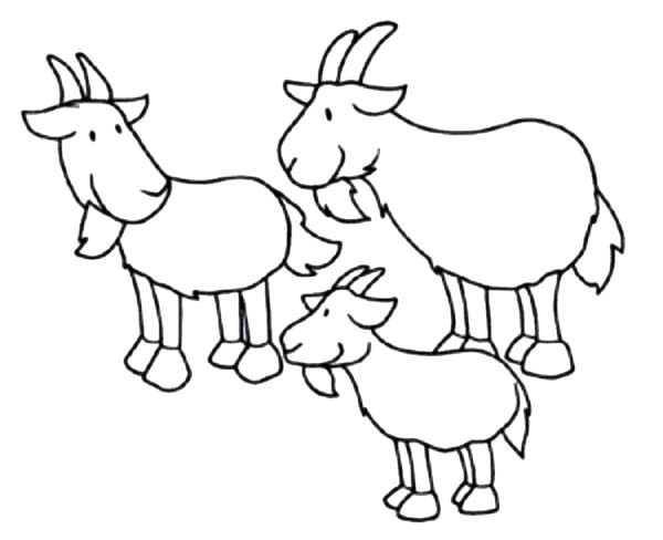 Billy the Goat, : Billy the Goat Brothers Coloring Pages