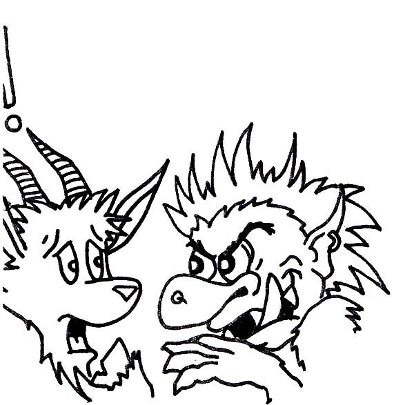 Billy the Goat, : Billy the Goat is Afraid to Troll Coloring Pages