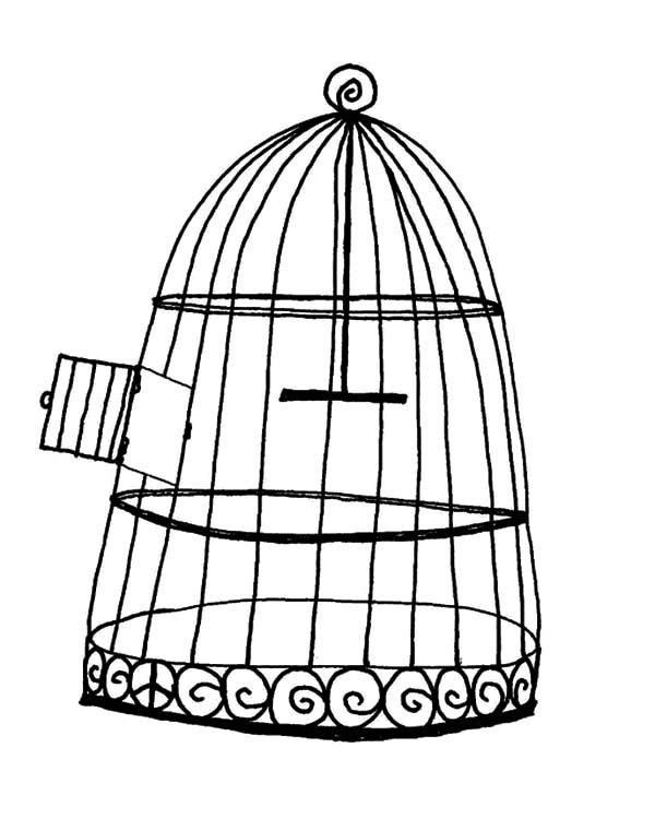 bird cage coloring pages - photo#4