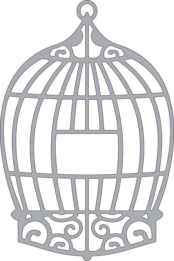 Bird Cage, : Bird Cage Outline Coloring Pages