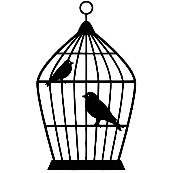 Bird Cage Picture Coloring Pages