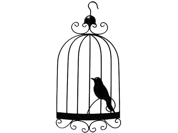 Bird Cage, : Bird Cage Silhouette Coloring Pages