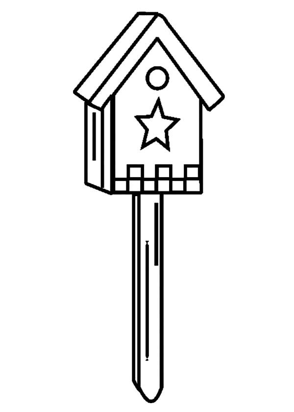 Bird House, : Bird House Coloring Pages