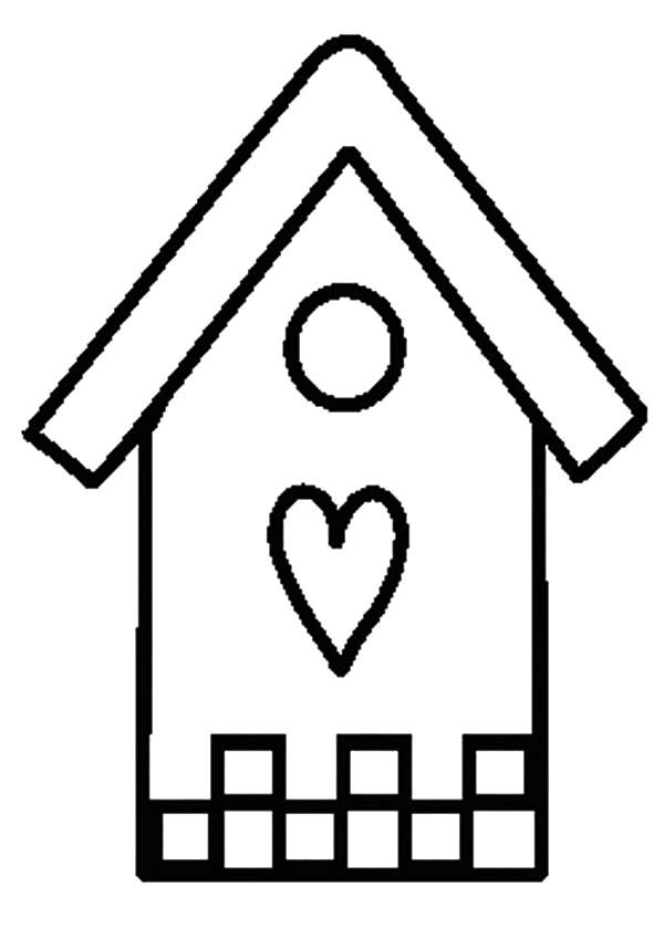 Bird House, : Bird House Coloring Pages for Kids