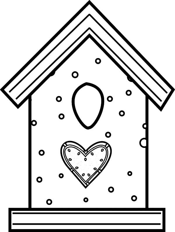 Bird House, : Bird House Made from Cookies Coloring Pages