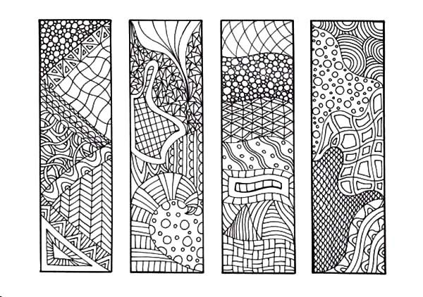 Bookmarks, : Bookmarks Coloring Pages