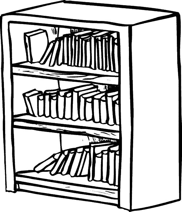bookshelf coloring pages bookshelf coloring pages best