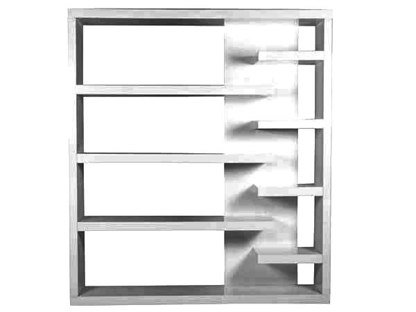 Bookshelf, : Bookshelf with Glass Coloring Pages